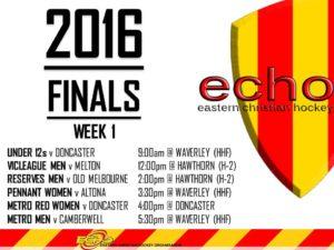 ECHO Finals - Week 1